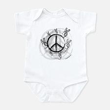 Peace Symbol & Sign Infant Bodysuit