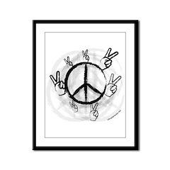 Peace Symbol & Sign Framed Panel Print