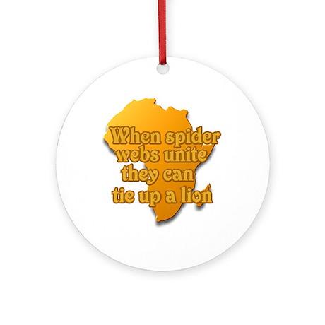 When spider webs unite Ornament (Round)