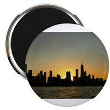 "Funny Chicago sky lines 2.25"" Magnet (10 pack)"