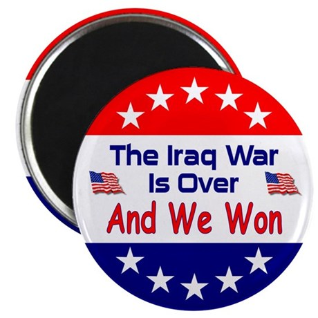 "Iraq War Is Over 2.25"" Magnet (100 pack)"