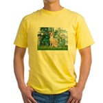 Lilies / Ital Greyhound Yellow T-Shirt