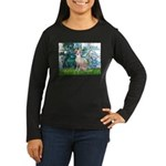 Lilies / Ital Greyhound Women's Long Sleeve Dark T