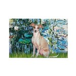 Lilies / Ital Greyhound Rectangle Magnet