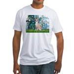Lilies / Ital Greyhound Fitted T-Shirt