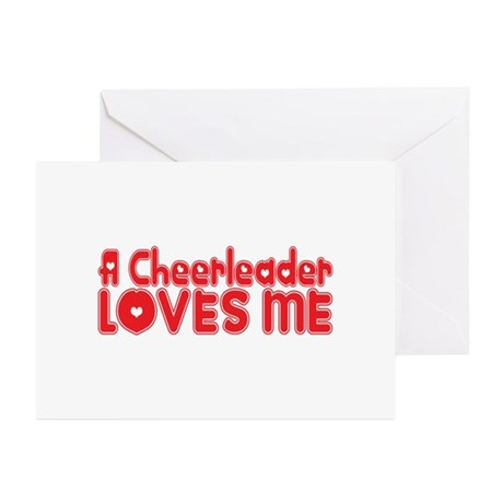 A Cheerleader Loves Me Greeting Cards (Pk of 20)