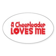 A Cheerleader Loves Me Oval Decal