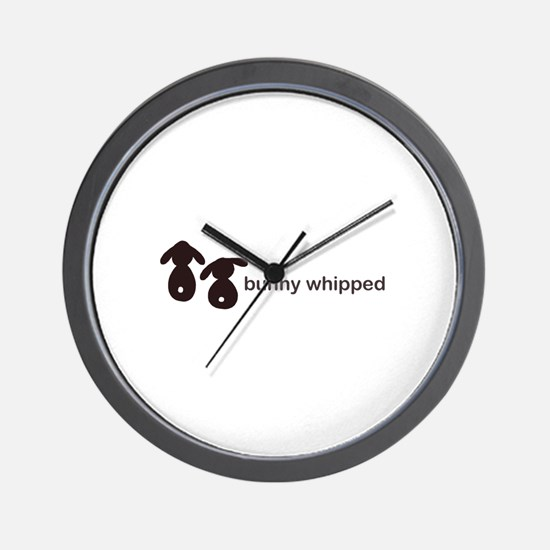 bunny whipped Wall Clock