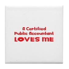 A Certified Public Accountant Loves Me Tile Coaste
