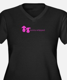 bunny whipped pink Women's Plus Size V-Neck Dark T