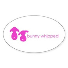 bunny whipped pink Oval Decal