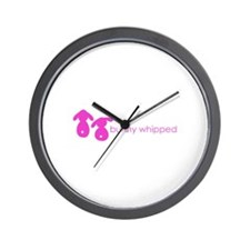 bunny whipped pink Wall Clock