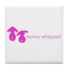 bunny whipped pink Tile Coaster