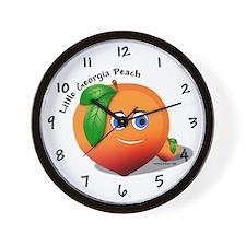 Little Georgia Peach Wall Clock
