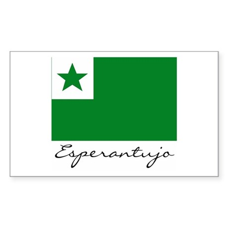 Flag of Esperantoland Rectangle Sticker