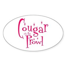 Cougar Oval Stickers