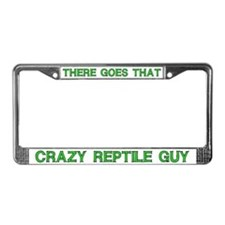 Crazy Reptile Guy License Plate Frame