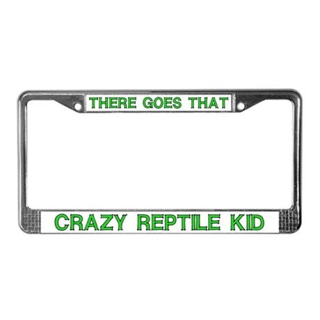 Crazy Reptile Kid License Plate Frame