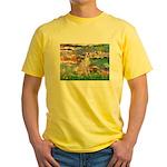 Lilies / Ital Greyhound Yellow T-Shirt