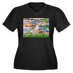 Lilies / Ital Greyhound Women's Plus Size V-Neck D