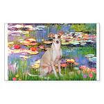 Lilies / Ital Greyhound Sticker (Rectangle)