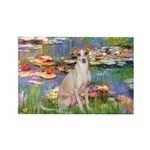 Lilies / Ital Greyhound Rectangle Magnet (10 pack)