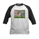 Lilies / Ital Greyhound Kids Baseball Jersey