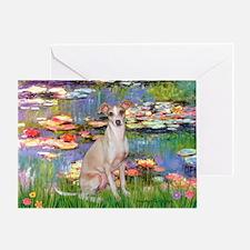 Lilies / Ital Greyhound Greeting Card
