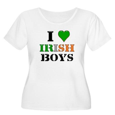 I Love Irish Boys Women's Plus Size Scoop Neck T-S