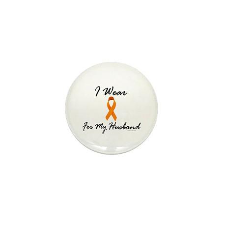 I Wear Orange For My Husband 1 Mini Button (10 pac