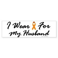I Wear Orange For My Husband 1 Bumper Bumper Sticker
