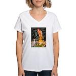 Midsummer's / Ital Greyhound Women's V-Neck T-Shir