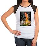 Midsummer's / Ital Greyhound Women's Cap Sleeve T-