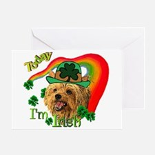 St. Patty Yorkie Greeting Card