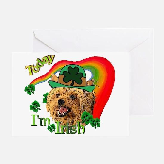 St. Patty Yorkie Greeting Card