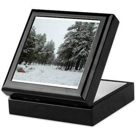 Winter in Arizona Keepsake Box