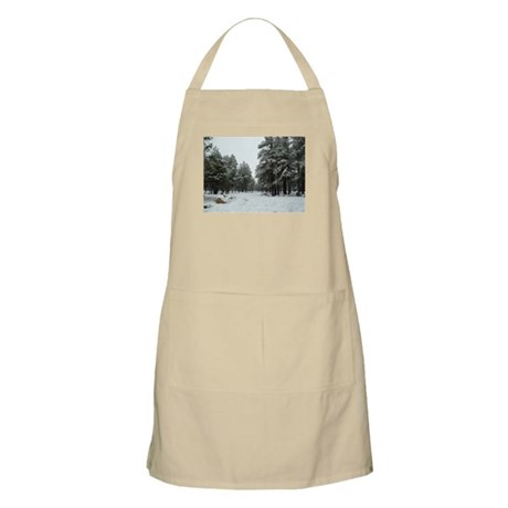 Winter in Arizona BBQ Apron