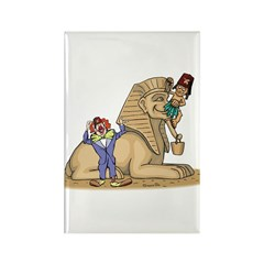 The Shrine Clown and the Sphinx Rectangle Magnet (
