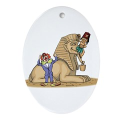 The Shrine Clown and the Sphinx Oval Ornament
