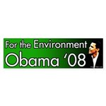 Obama '08 Environment Bumper Sticker