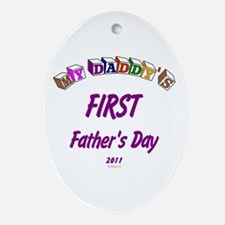 First Father's Day Oval Ornament