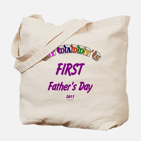 First Father's Day Tote Bag