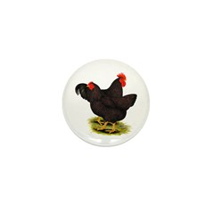 Rhode Island Red Pair Mini Button (100 pack)