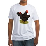 Rhode Island Red Pair Fitted T-Shirt