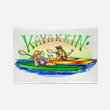 KaYakkin' Rectangle Magnet