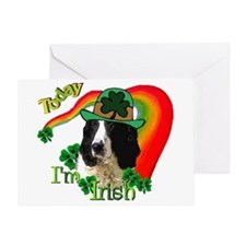 St Pats Springer Spaniel Greeting Card
