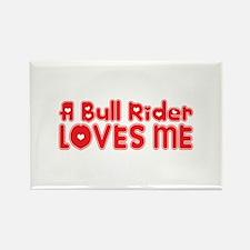 A Bull Rider Loves Me Rectangle Magnet