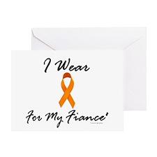 I Wear Orange For My Fiance' 1 Greeting Card