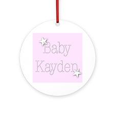 Cute Kayden Ornament (Round)