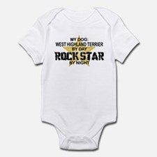 West Highland Terrier Rock Star Infant Bodysuit